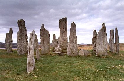 Photograph is the Callanish Stones in Lewis, Scotland