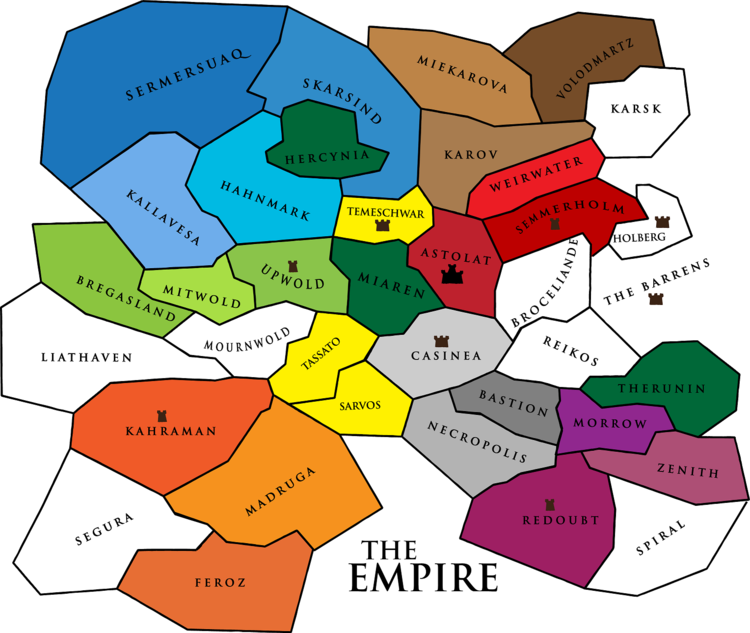 The territories of the Empire