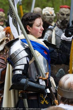 Heavy armour and a two-handed weapon is popular with some cataphracts.