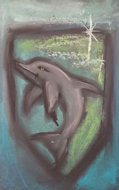 The dolphin appears to be a fine symbol for Rhianos; seemingly friendly but with a well developed capacity for cruelty and violence when the mood takes him.